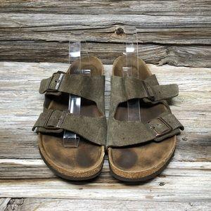 Birkenstock Men's 14 Arizona Brown Leather